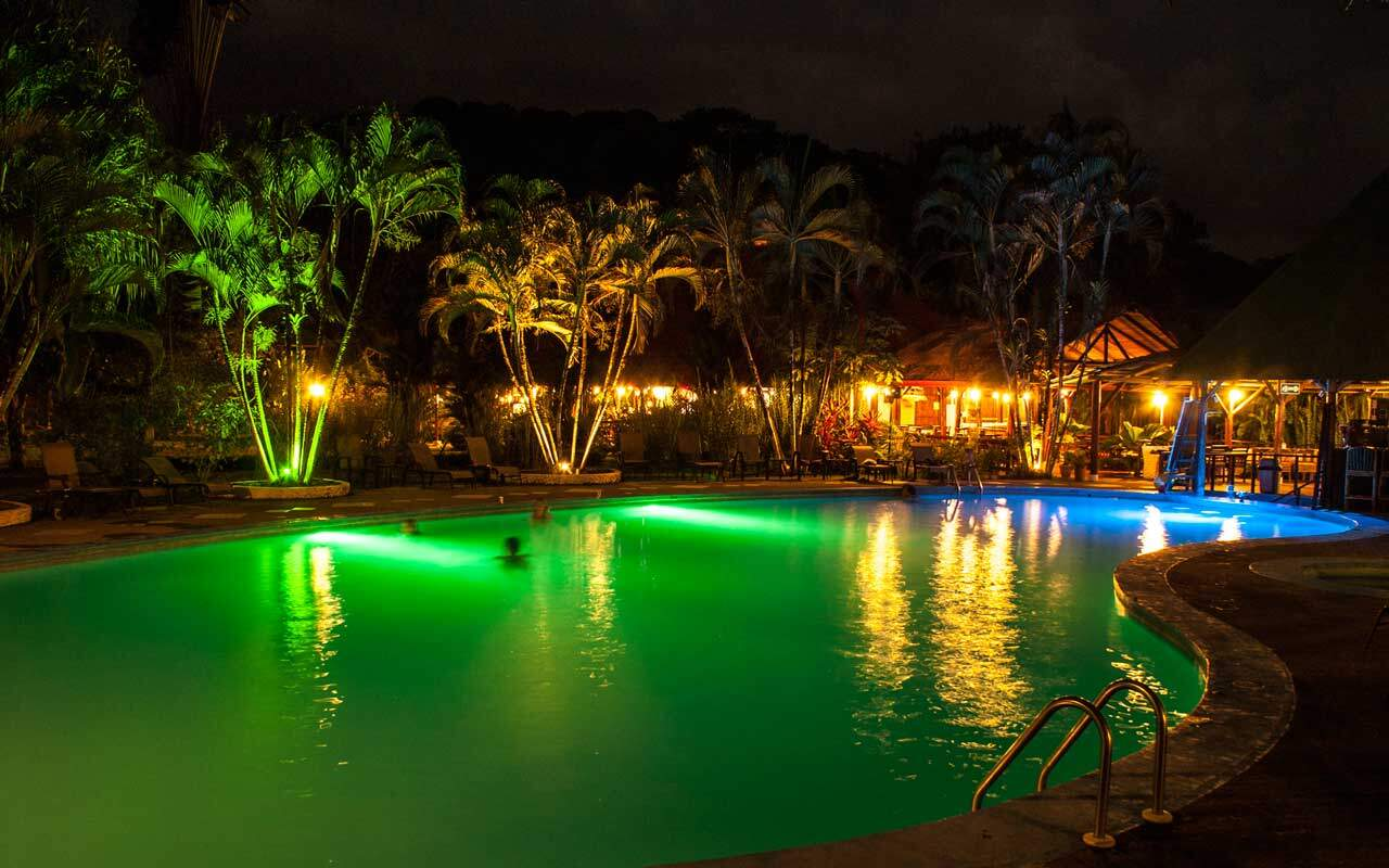 Our Pool by Night