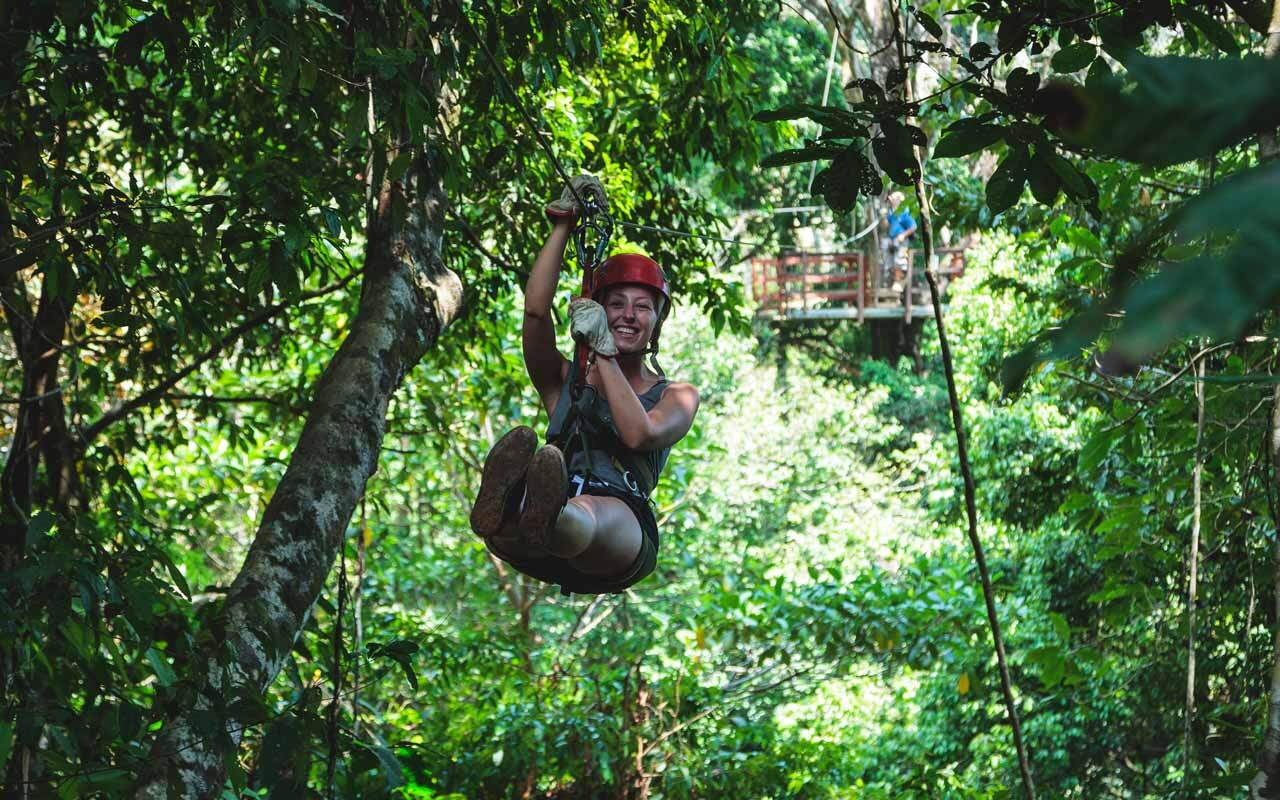 Zip-line at Hacienda Baru