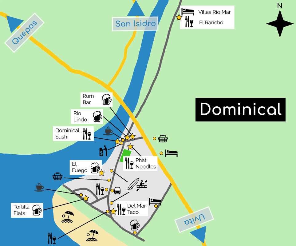 map of dominical
