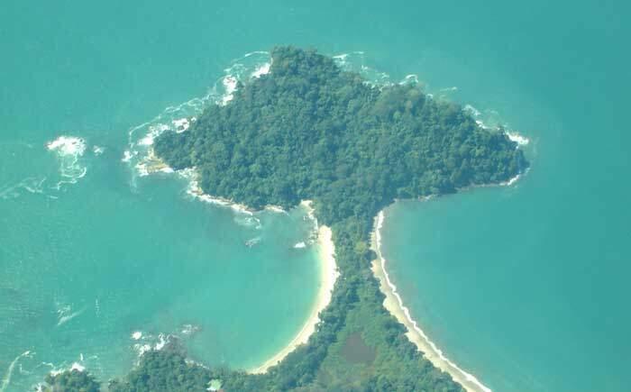 Aerial Corcovado National Park Costa Rica