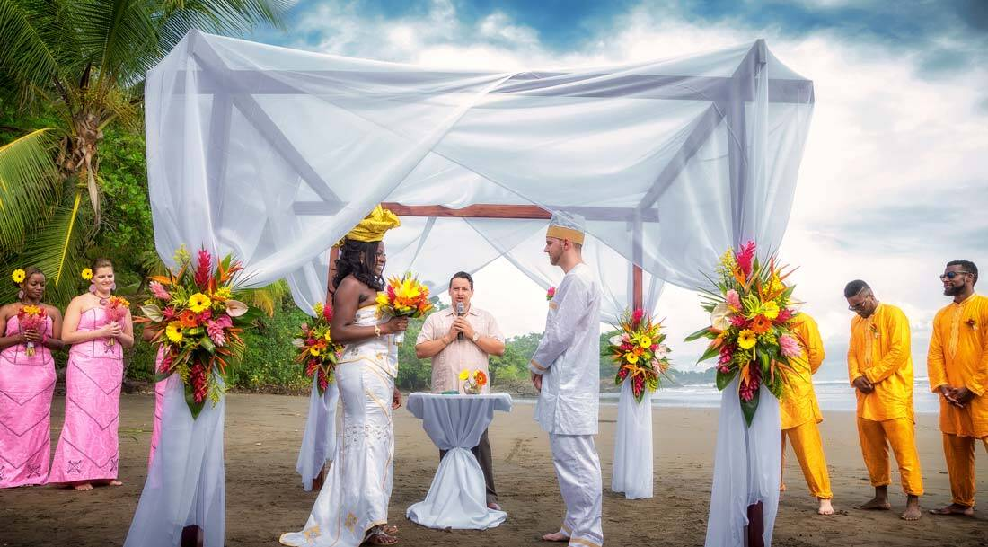 Wedding Ceremony in Dominical, Costa Rica