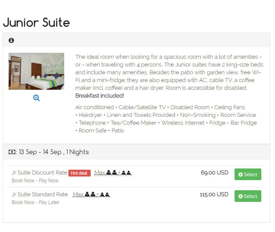 Early Booking Deal Hotel in Dominical